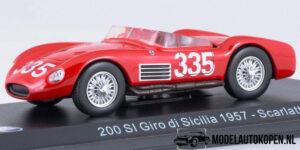 Maserati 200SI Giro di Sicilia 1957 Scarlatti (Rood) (10 cm) 1/43 Atlas
