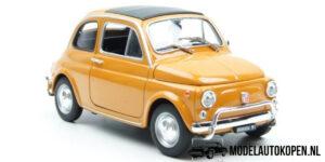 1957 Nuova Fiat 500 (Oranje) (15 cm) 1/18 Welly