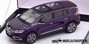 Renault Intiale Espace (Blauw) (10 cm) 1/43 Norev [Inclusief Luxe Showcase]
