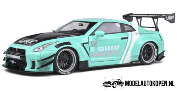 Nissan GT-R Liberty Walk (Turquoise) (30 cm) 1/18 Solido