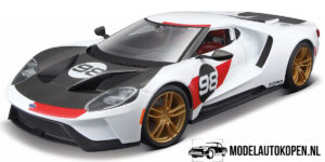2021 Ford GT Heritage Edition (Wit) (30 cm) 1/18 Maisto
