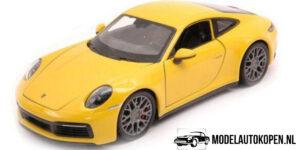 Porsche 911 Carrera 4S (Geel) (20 cm) 1/24 Welly