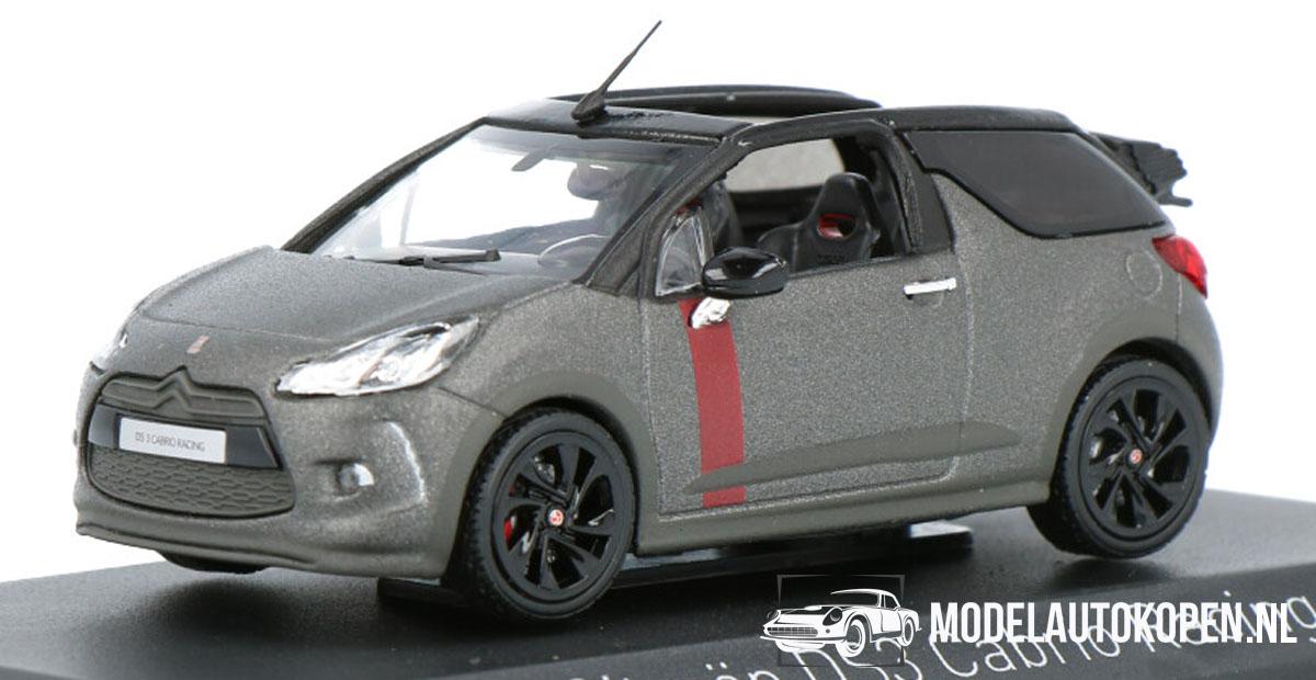 Citroën DS3 Cabrio Racing (Open Dak) (Grijs) (10 cm) 1/43 Norev