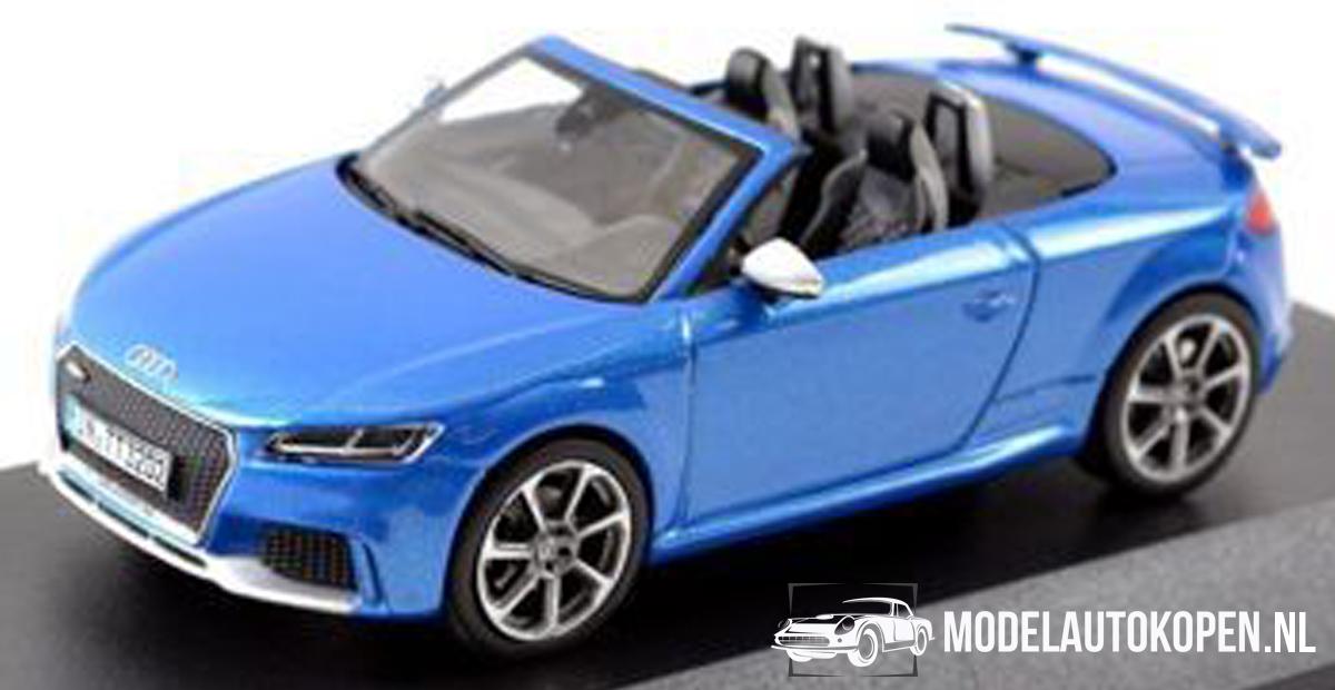 Audi TT RS Roadster (Blauw) (10 cm) 1/43 Audi Collection Dealer model iScale