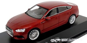 Audi A5 Sportback (Rood) (10 cm) 1/43 Audi Collection Dealer model Spark