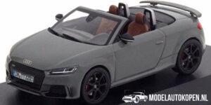 Audi TT RS Roadster (Grijs) (10 cm) 1/43 Audi Collection Dealer model iScale