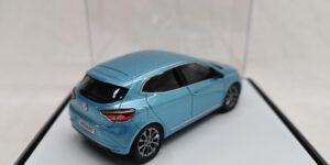 Renault Clio (Lichtblauw) (8 cm) 1/43 Norev [Inclusief Luxe Showcase]