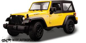 2014 Jeep Wrangler (Geel) (20 cm) 1/18 Maisto