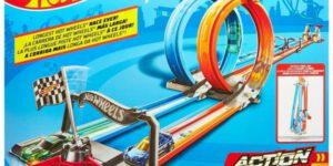 Hot Wheels Action Double Loop Dash + 2 Speelauto's