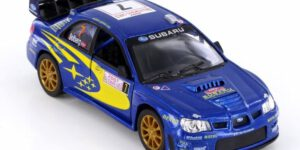 Subaru Impreza WRC 2007 (Blauw) (10 cm) 1/36 Kinsmart