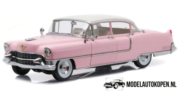 1955 Cadillac Fleetwood Series 60 - Elvis Presley (Roze/Wit) (30 cm) 1/18 Greenlight Limited Edition