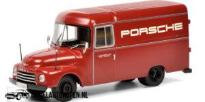 1952 Opel Blitz 1.7T (Porsche Bus) (Rood) (40 cm) (1/500 pcs) 1/18 Schuco [Limited Edition]