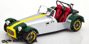 Lotus Seven 1989 (Aluminium/Groen) (16 cm) 1/18 Solido [Limited Edition]