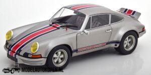 """Porsche 911 RSR 1973 """"Backdating Outlaw"""" (Zilver) (22 cm) 1/18 Solido"""