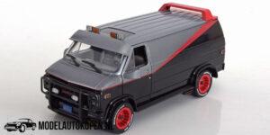 1983 GMC Vandura 'The A Team' (Zilver/Zwart) (20 cm) 1/24 Greenlight Limited Edition
