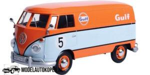Volkswagen Type 2 (T1) Delivery Van Gulf (Lichtblauw/Oranje) (21 cm) 1/24 Motor Max