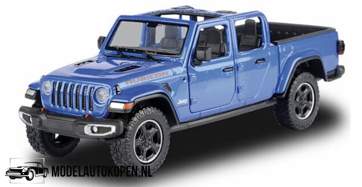 2021 Jeep Gladiator Overland (Blauw) (22 cm) 1/27 Motor Max