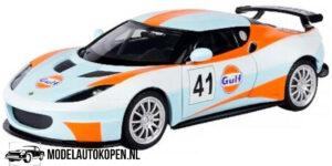 Lotus Evora GT4 #41 GULF (Lichtblauw) (18 cm) 1/24 Motor Max