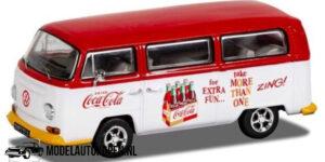 Coca-Cola Volkswagen T1 Camper Zing (10 cm) (Wit/Rood) 1/43 Corgi
