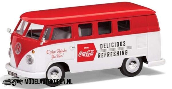 Coca-Cola Volkswagen T1 Camper Late (10 cm) (Wit/Rood) 1/43 Corgi