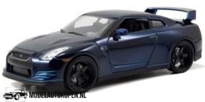 Brian's Nissan GT-R R35 (Blauw) (20 cm) 1/24 JADA Fast & Furious