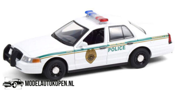 2001 Ford Crown Victoria Dexter (20 cm) (Wit) 1/24 Greenlight Hollywood