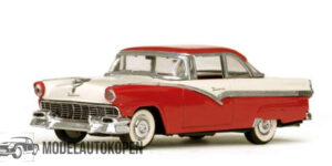Ford Fairlane 1956 (Wit/Rood) (10 cm) 1/43 Atlas