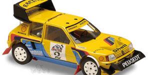 Peugot 205 (Yellow) (22cm) + showcase 1:18 Solido Racing Collection