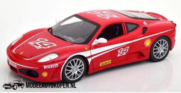 Ferrari F430 Challenge #14 (Rood) (30 cm) 1/18 Hot Wheels