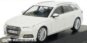 Audi A4 Avant (Wit) (10 cm) 1/43 Audi Collection Dealer model Spark