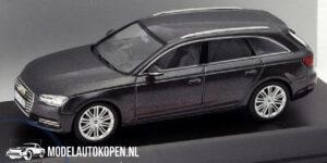 Audi A4 Avant (Donker grijs) (10 cm) 1/43 Audi Collection Dealer model Spark