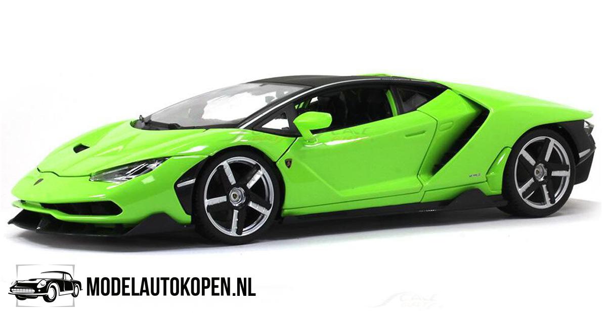 Lamborghini Centenario (Groen) (32 cm) 1/18 Maisto