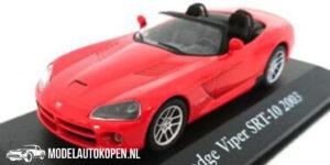 Dodge Viper SRT-10 Cabriolet 2003 (Rood) (10 cm) 1/43 Atlas