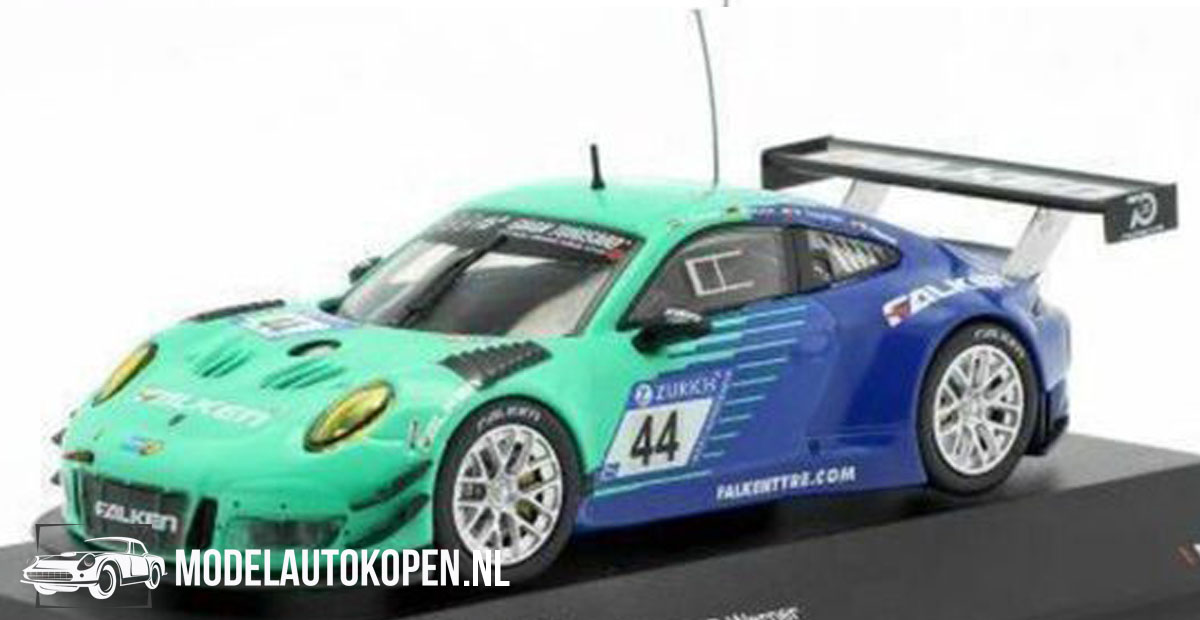 Porsche 911 GT3 R #44 K. Bachler (Turquoise/Blauw) (12 cm) 1/43 CMR Limited Edition