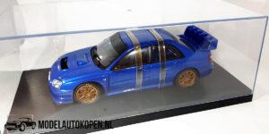 Subaru New Age Impreza WRC (Blauw) (25cm) + Showcase 1/18 AutoArt