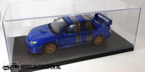 Subaru Impreza WRX Sti (Blauw) (25cm) + Showcase 1/18 AutoArt