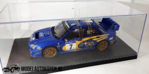 Subaru New Age Impreza WRC Racing Devision (Blauw) (25cm) + Showcase 1/18 AutoArt