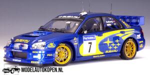 Subaru New Age Impreza WRC (Blauw) (25cm) - AutoArt 1:18