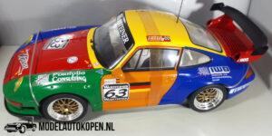 Porsche 911 GT2 (Oranje/blauw) (24cm) UT models 1:18