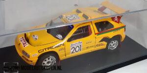 Citroen 1992 (Geel) (22cm) + showcase 1:18 Solido Racing Collection