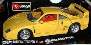 Ferrari F40 1987 Geel (24 cm) 1/18 Bburago