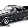 1970 Chevy El Camino SS 396 (Zwart/Wit) (20 cm) 1/24 Motor Max