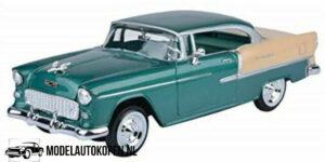 1955 Chevy Bel Air (Groen/Crème) (20 cm) 1/24 Motor Max