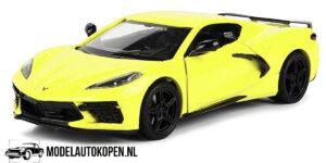 2020 Corvette Stingray C8 (Geel) (20 cm) 1/24 Motor Max