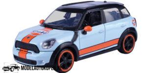 Mini Cooper S Countryman GULF (Lichtblauw) (16 cm) 1/24 Motor Max