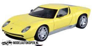 Lamborghini Miura Concept (Geel) (20 cm) 1/24 Motor Max