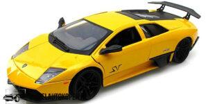 Lamborghini Murciélago LP 670-4 SV (Geel) (20 cm) 1/24 Motor Max