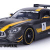 Mercedes-Benz AMG GT3 (Mat Zwart) (20 cm) 1/24 Motor Max GT Racing