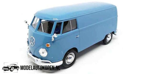 Volkswagen Type 2 T1 Delivery Van (Blauw) (17 cm) 1/24 Motor Max