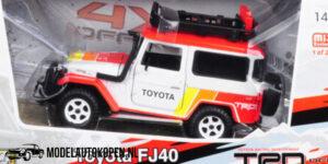Toyota FJ40 Land Cruiser 4X4 Off-Road (Wit) (15 cm) 1/24 Motor Max